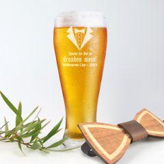 Personalised Engraved Melbourne Cup Schooner Beer Glass Prize