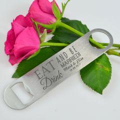 Personalised Engraved Barmate Wedding Favour Bottle Opener Bomboniere