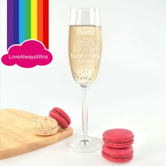 Personalised Engraved Same Sex Wedding Champagne Glass Bomboniere