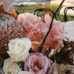 Personalised Laser Cut and Engraved Clear Acrylic Bouquet Wedding Table Number
