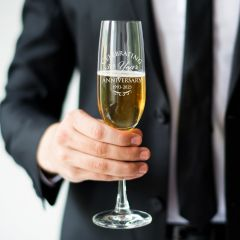 Engraved Corporate Gift Champagne Glass