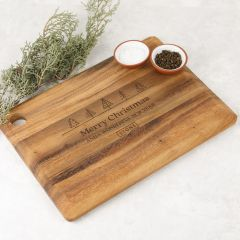 Personalised Christmas Corporate Engraved Rectangle Acacia Serving Board