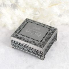 Personalised Engraved Birthday Pewter Jewellery Box Present