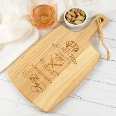 "Personalised Engraved ""No Bitchin' in My Kitchen"" Mother's Day Paddle Cheese Board Present"