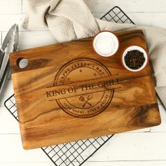 Personalised Engraved Father's Day Rectangle Wooden Serving Board