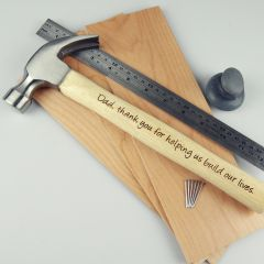Personalised Engraved Father's Day Hammer Present