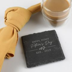 Personalised Engraved Slate Father's Day Coaster Gift