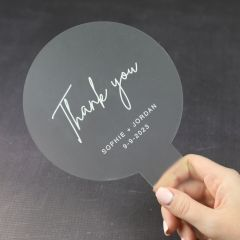 Personalised Engraved Frosted Acrylic Fan Wedding Favour