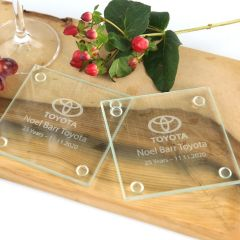 Personalised Engraved Corporate Glass Coaster Gifts
