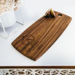 Personalised Engraved Godparent Acacia Wood Tapas Board Present
