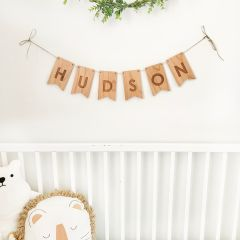 Personalised Wooden Baby Bunting