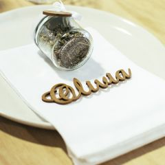 Personalised Laser cut & Engraved wooden wedding reception name place cards