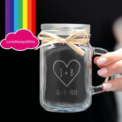 Personalised Engraved Same Sex Wedding Major Pars favours or bridal party gifts.