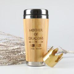 Laser Engraved Bamboo Travel Mug Game Of Thrones Theme