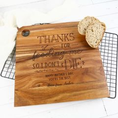 Custom Designed Engraved Mother's Day Serving Cheese Chopping Board Gift