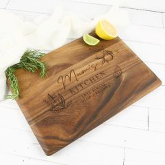 Personalised Engraved Rectangle Wooden Cheese Board Mother's Day Present