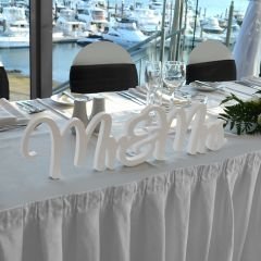 Mr & Mrs Freestanding Wedding Plaque Wedding Reception