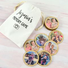 Personalised Printed Wooden Photo Memory Game with Calico Bay
