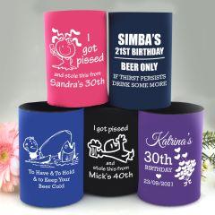 Custom Designed Printed Birthday Stubby Holders Gift