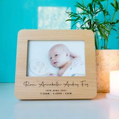Personalised Engraved Wooden Rounded Edge Photo Frame