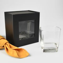 Scotch Glass Presentation Gift Box With Magnetic Closing Lid
