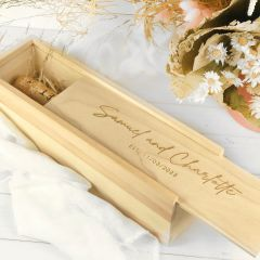 Personalised Engraved Wooden Wine Box Wedding Present