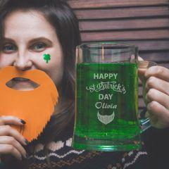 Personalised Engraved St Patrick's Day Beer Stein Mug