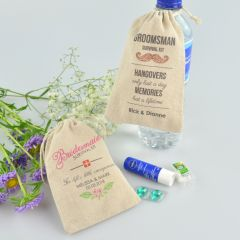 Personalised Colour Printed Wedding Bridal Party Hangover Kit