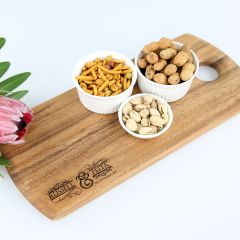 Personalised engraved bride and groom Wedding Tapas Serving Board gift