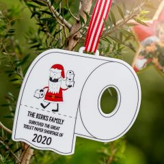 Customised Printed Acrylic Toilet Shortage 2020 Christmas Decoration