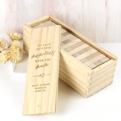 """Personalised Engraved Mother's Day Engraved Wooden """"Building Memories"""" Tumbling Tower Present"""