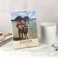 Personalised Photo Printed Mother's Day Wooden Photo Block