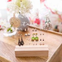 Personalised Engraved Clear Acrylic Jewellery Holder Birthday Gift