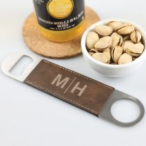 Personalised Engraved Barware Leatherette Barmate Bottle Opener