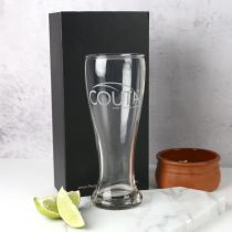 Personalised Engraved Corporate Logo 425ml Beer Glass Promotional Gift
