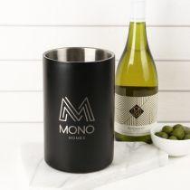 Personalised Engraved Corporate Matte Black Stainless Steel Wine Cooler