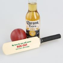 Personalised Colour Printed Father's Day Mini Cricket Bat Present- my love for you will never run out