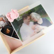 Personalised Colour Photo Printed Baby Family Keepsake Box